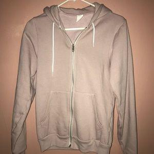 American apparel mauve zip up